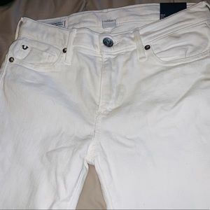 True Religion Mid Rise White Jeans